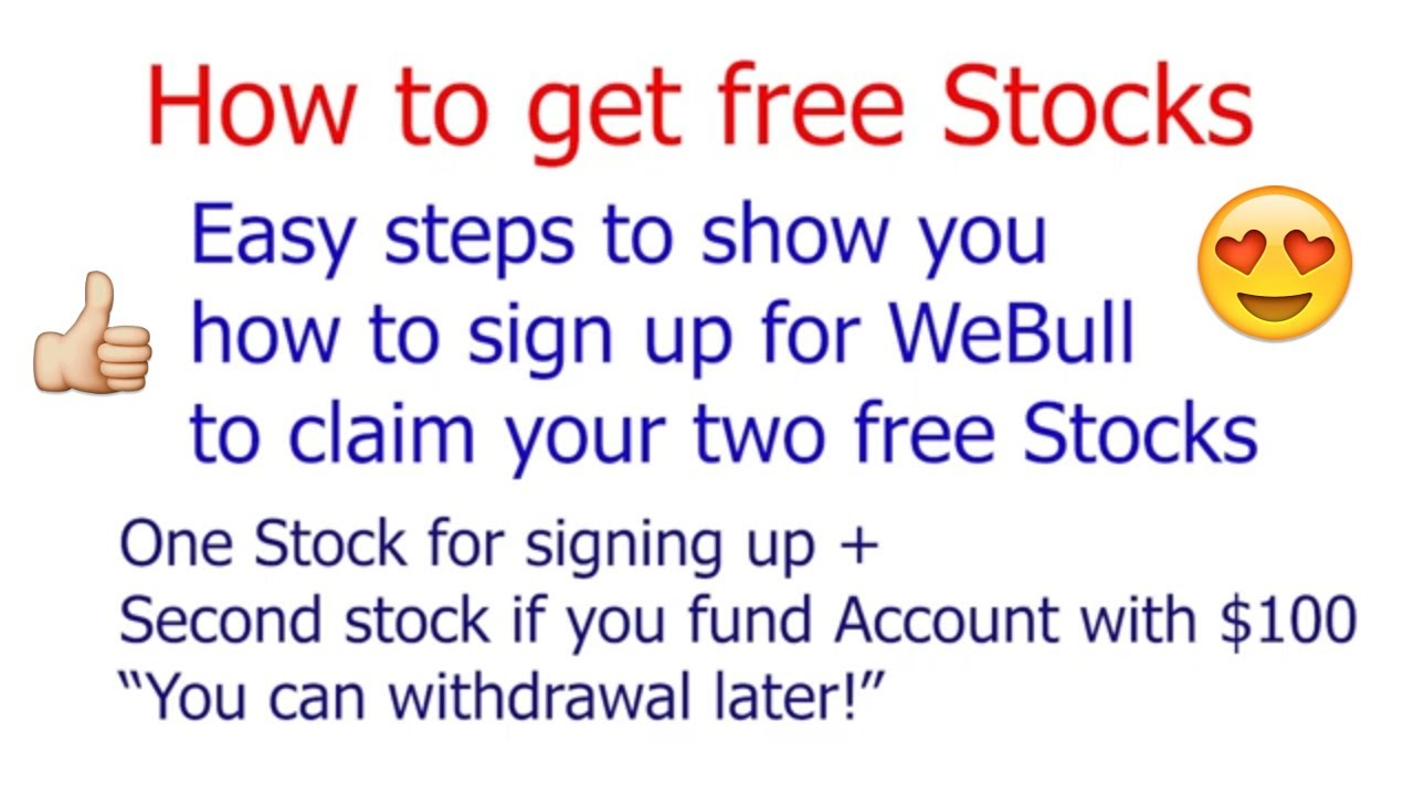 Claim your 2 Free Stocks - Webull Account Setup in a minute!