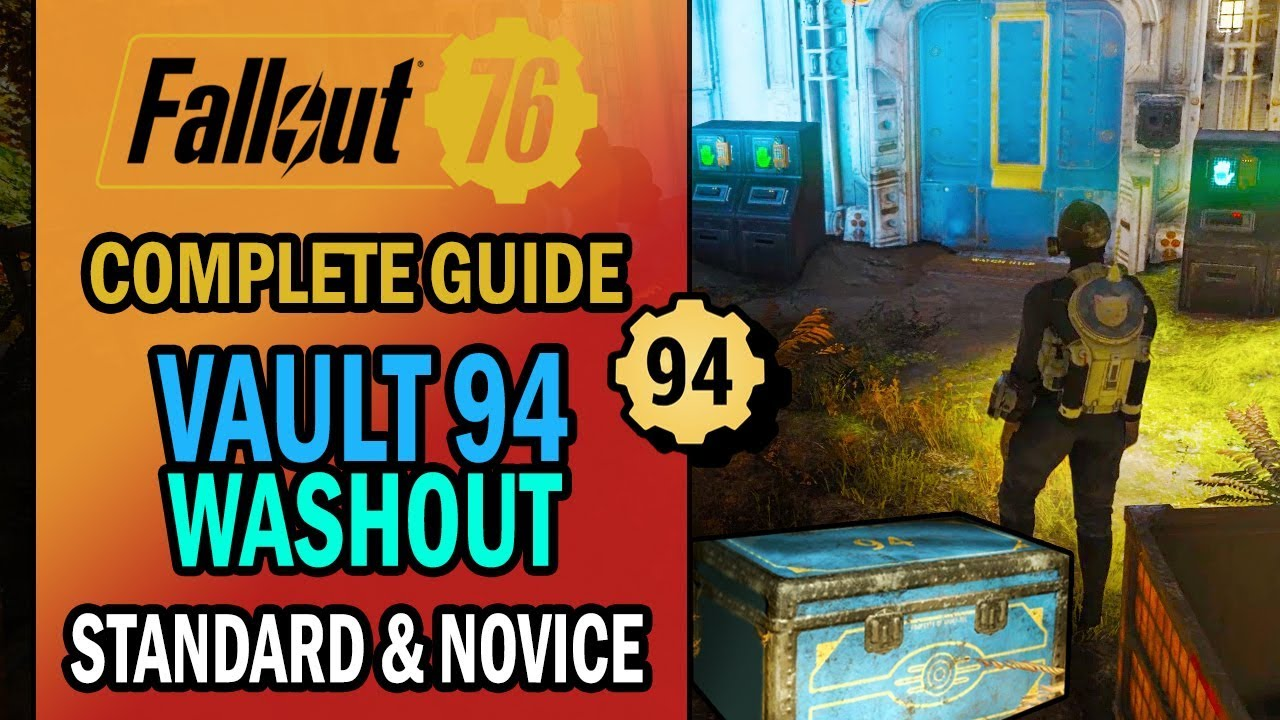 Fallout 76 - Vault 94 Raid - Washout: All You NEED to KNOW - Standard &  Novice | Mission Guide