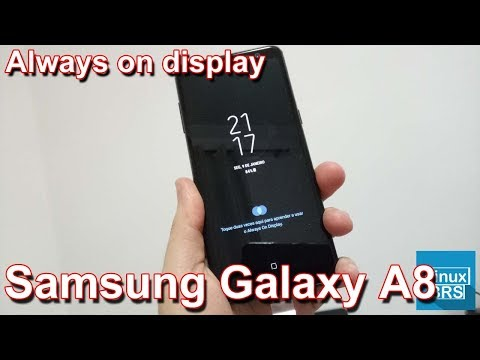 Samsung Galaxy A8 - Always On Display (configurando)