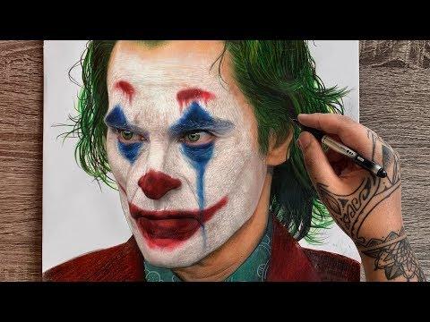 Drawing Joker | Joaquin Phoenix