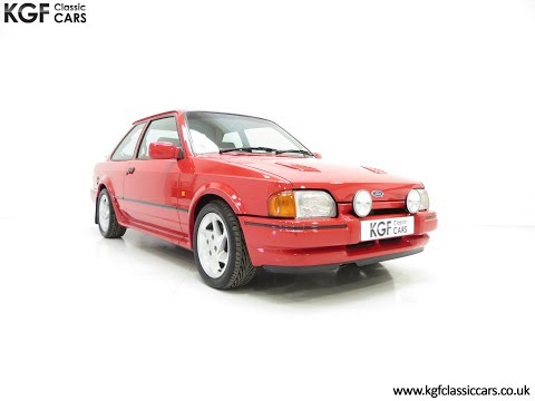 A Superb Very Early Ford Escort RS Turbo Series 2 with Just 60,897 Miles - SOLD!