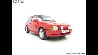 A Superb Very Early Ford Escort RS Turbo Series 2 with Just 57,620 Miles - £10,595