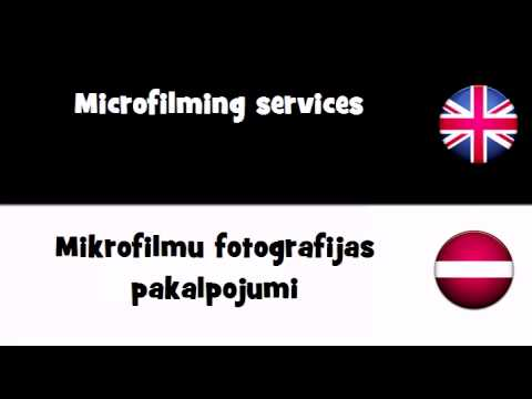 VOCABULARY IN 20 LANGUAGES = Microfilming services