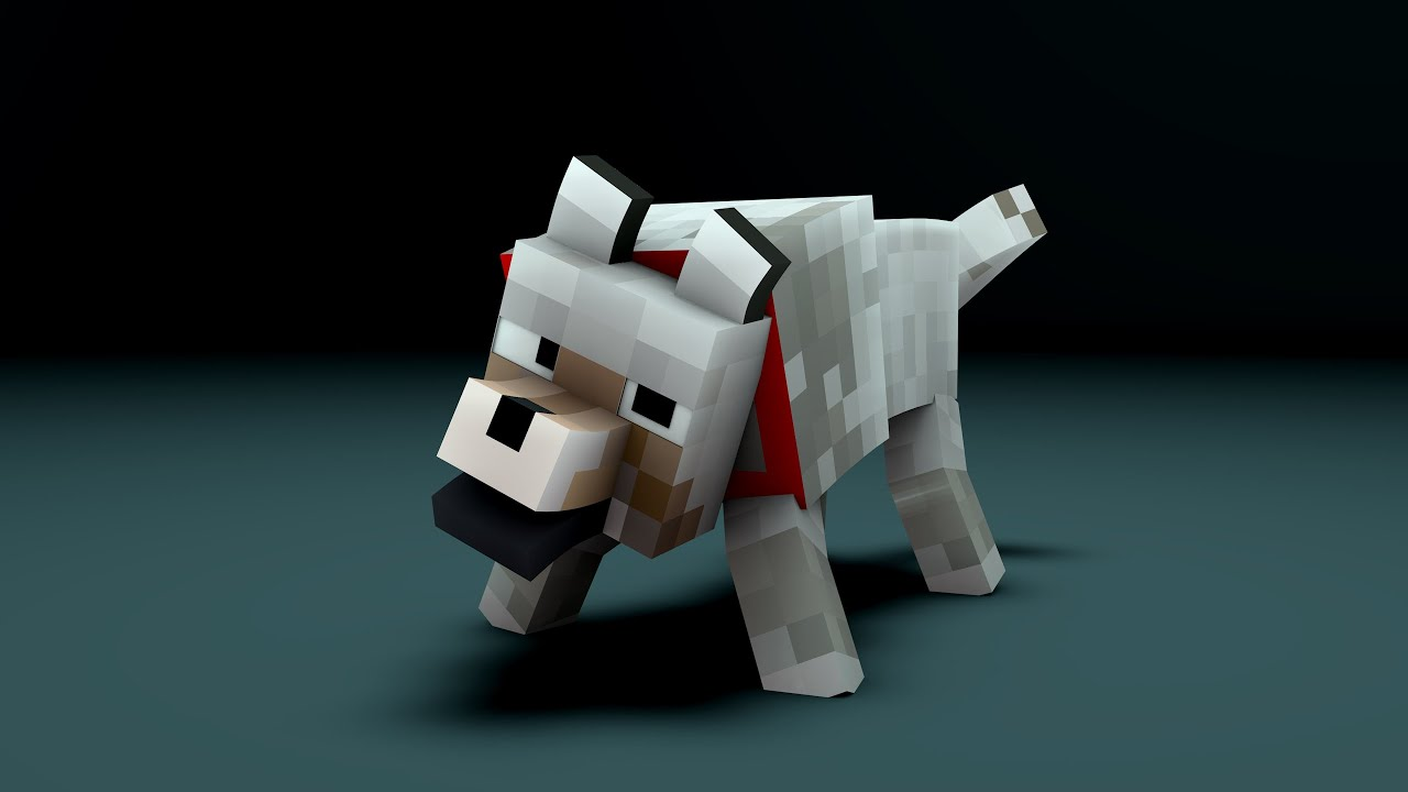 Cinema 4D Minecraft Wolf Rig