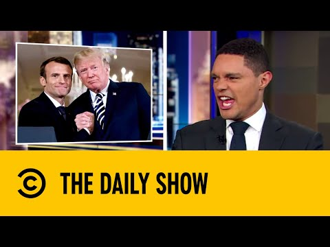 Emmanuel Macron and Donald Trump's Friendship Tree Dies   The Daily Show with Trevor Noah