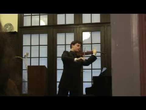 Violinist Stefan Tarara performs Bartok Chaconne for violin solo