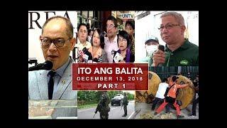 UNTV: Ito Ang Balita (December 13, 2018) PART 1