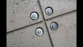 Jak zrobić płyty betonowe - beton architektoniczny - tani sposób na betonową ścianę DIY