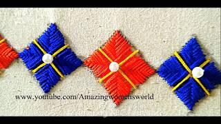हाथ कढ़ाई डिजाइन   सरिस, ब्लाउज, लेहेनगास,के लिए border डिजाइन आसान बनाना   Latest Hand embroidery