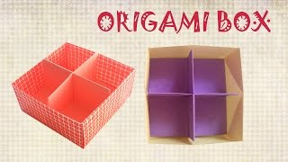 Origami Box with Divider - Origami Easy