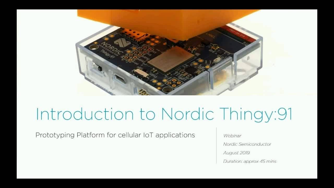 Nordic Releases Thingy:91 Multi-Sensor IoT Prototyping SiP