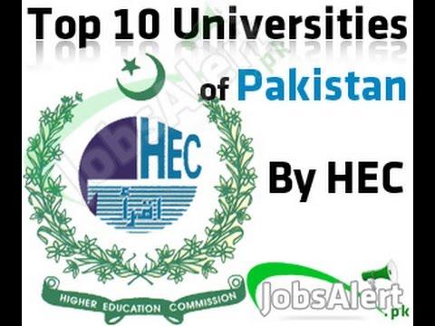Top 10 engineering universities of Pakistan (HEC Ranking)