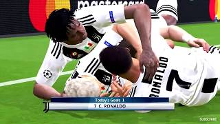 Juventus vs Barcelona Ronaldo Debut Champions League 2018   Gameplay