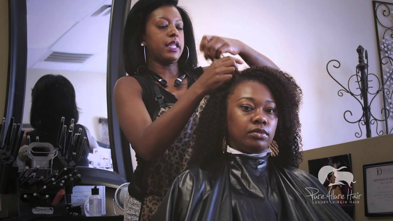 How To Wash Style Afro Kinky Curly Hair Extensions Pure Allure