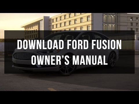 How to download Ford Fusion owner's manual