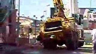 Concrete pump truck falls over construction (Part 3)