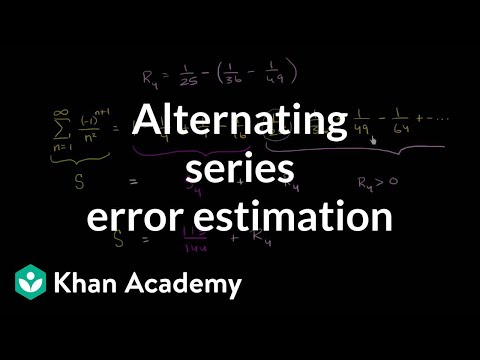 Alternating series error estimation