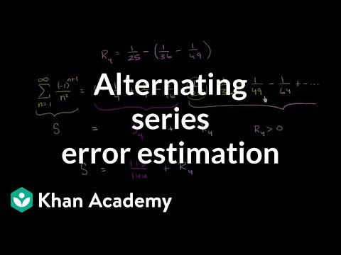 Alternating series error estimation
