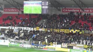Guldfågeln Arena KFF-AIK 1-1, AIK-supporters (2)