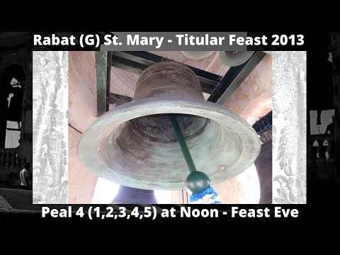 Rabat (G) St. Mary - Feast St. Mary 2013 - Peal 4 (1,2,3,4,5) - 5 Bells / 10