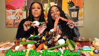 Seafood Boil with Trina (@trinarockstarr) American Rapper and TV Personality