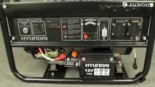 видео Бензиновый генератор  Hyundai HHY  5000 FE