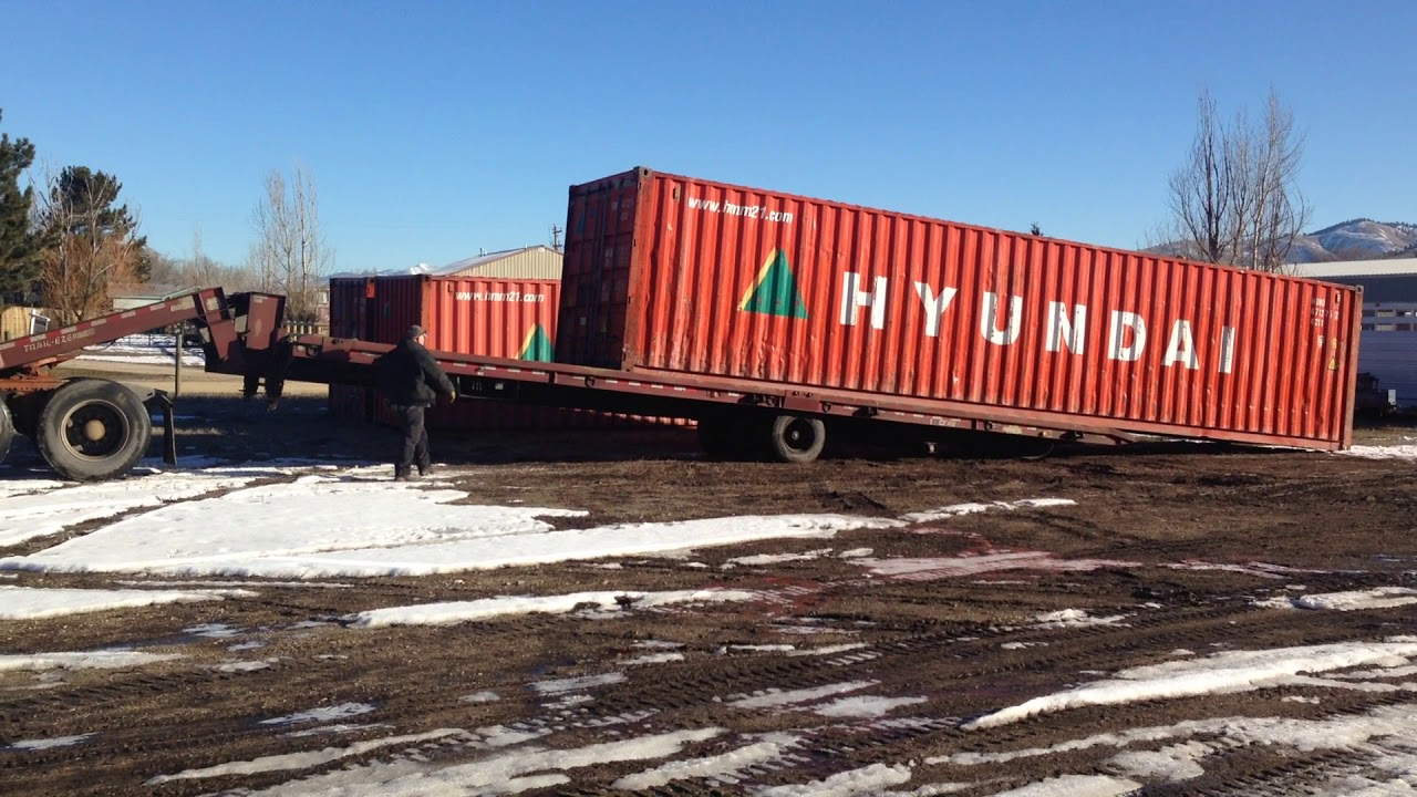 Unloading Storage Container Shipping Containers For SaleRent Lolo