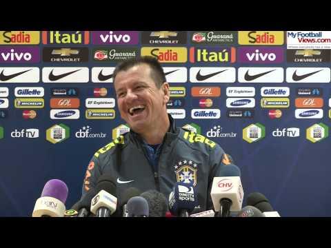 Brazil coach Dunga laughs at funny ringtone