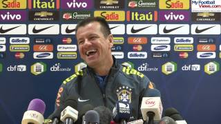 Brazil coach Dunga laughs at funny ringtone
