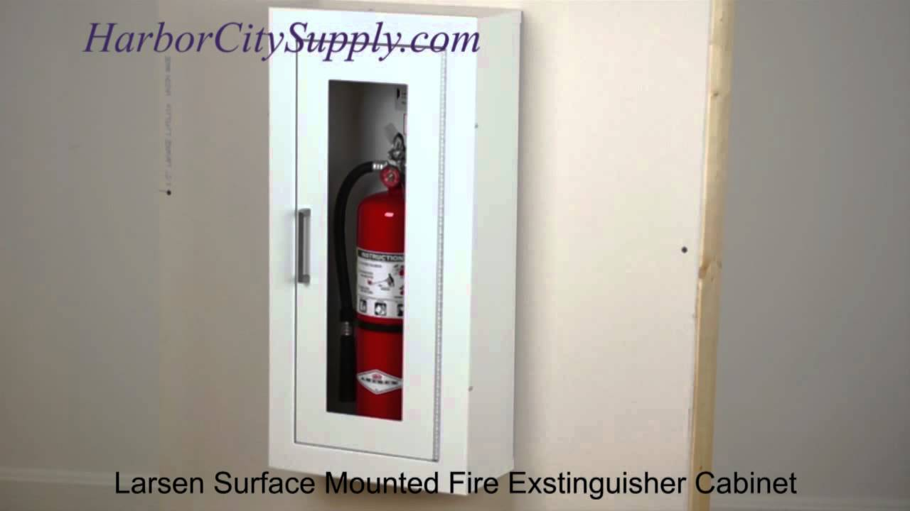 Larsen Architectural Series Surface Mounted Fire Extinguisher Cabinet