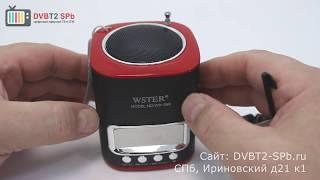 wster WS 259 - обзор портативной мини акустики