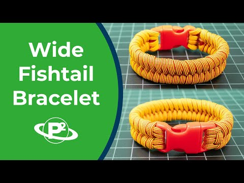 How To Make A WIDE Fishtail Bracelet 🐠