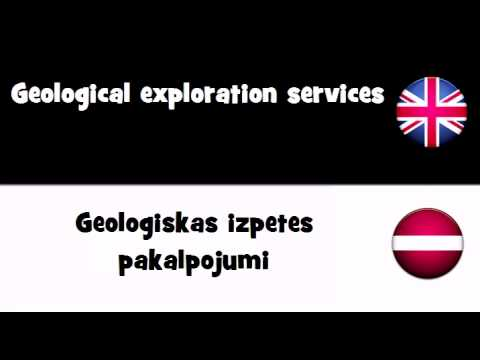 VOCABULARY IN 20 LANGUAGES = Geological exploration services