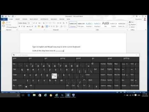 Type in nepali Screen keyboard on windows 10,8.1 (Nepali tutorial)