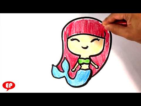 How to Draw a Mermaid - Easy Pictures to Draw