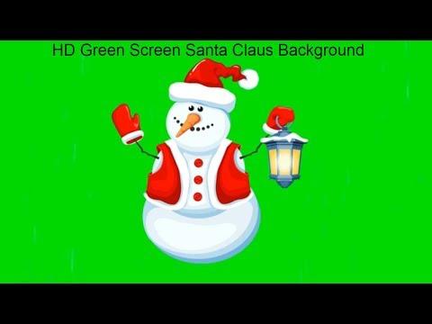 hd green screen santa claus background happy new year