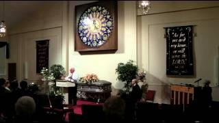 2014 April 3 Ethel Mae (Gould) Anglin - Memorial Pastor Bob Douglas message movie