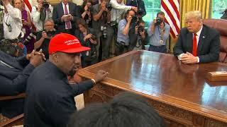 the most bizarre moments from kanye wests meeting with donald trump at the white house