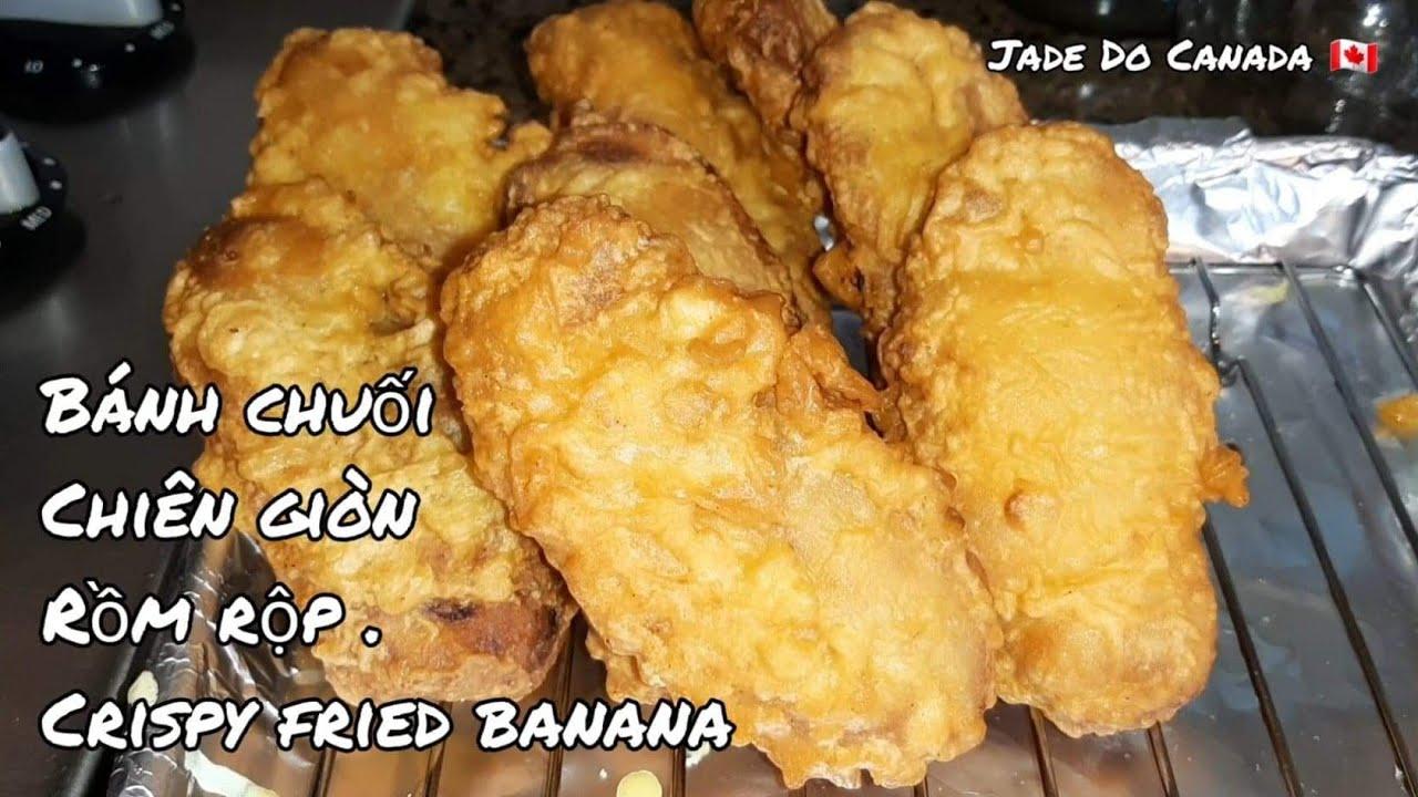 🇨🇦 Cách làm bánh chuối chiên giòn rồm rộp[ Eng Sub ]Deep fry banana.