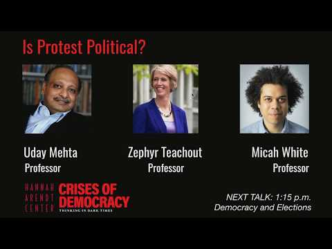Is Protest Political? Micah White and Zephyr Teachout at Bard's Hannah Arendt Center
