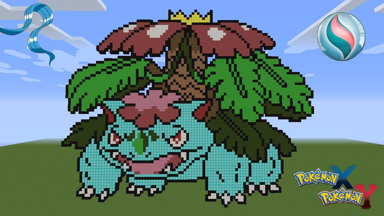 mega pokemon pixel art