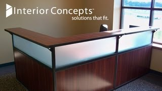 "Interior Concepts | Reception Desk Layout, 30""d X 72""w"