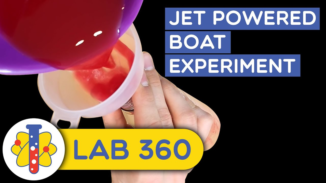 Jet Powered Boat Science Experiment - YouTube