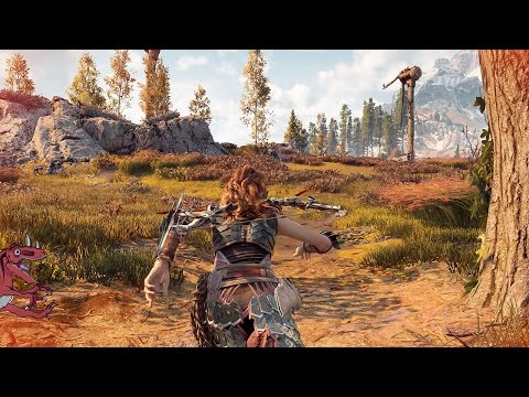 Horizon Zero Dawn Map Size RUNNING From LEFT To RIGHT (Horizon Zero Dawn gameplay PS4 Pro)