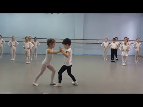 Classic Dance Lesson 6 years old Kharkov Ballet Academia( part 2)