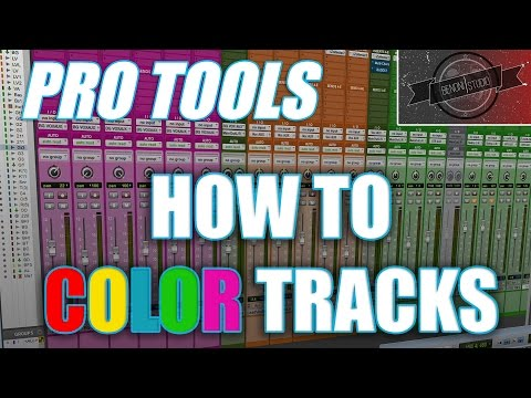 PRO TOOLS – HOW TO COLOR TRACKS