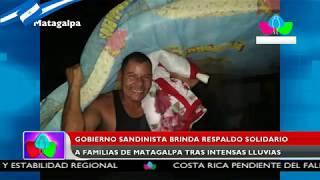 Gobierno Sandinista brinda respaldo solidario a familias de Matagalpa tras intensas lluvias