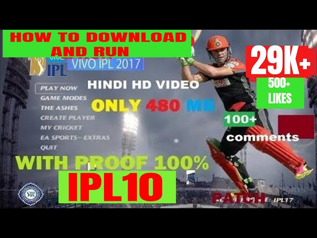 [Hindi]How to Download and Install Vivo IPL10 2017 Patch for EA Cricket 07