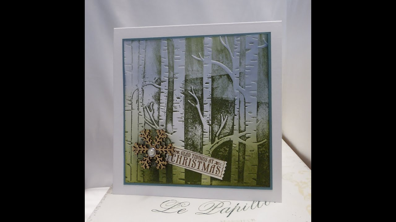 Using The Woodland Textured Impressions Embossing Folder