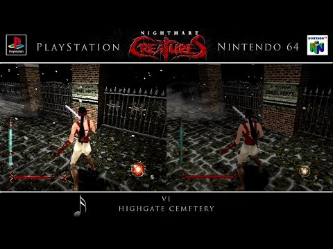 Nightmare Creatures | PSX & N64 | Comparison - Dual Playthrough (Edit)